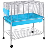 100cm Rabbit Hutch Guinea Pig Cage Rabbit Home Bunny with Detachable Wheels