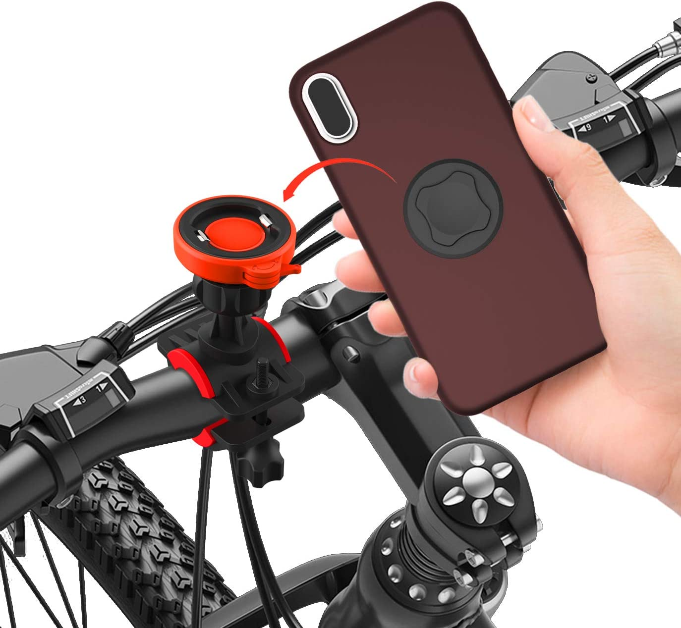 MTB Road Bike Computer Adapter Mount Phone Holder Bicycle Electronics Bracket