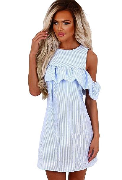 f1636944d1 Mintsnow Womens Summer Off The Shoulder Strap Floral Print Bohemian Dresses  at Amazon Women s Clothing store