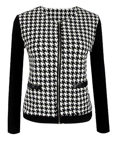 Tayaho Jacket Manga Larga Mujer Coat Patchwork Personalizadas Tops Corto Paravientos Abrigos Clasico...