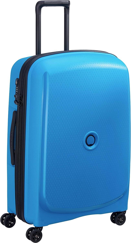 DELSEY Paris Belmont Plus Maleta, 70 cm, 80.5 litros, Azul Metalico