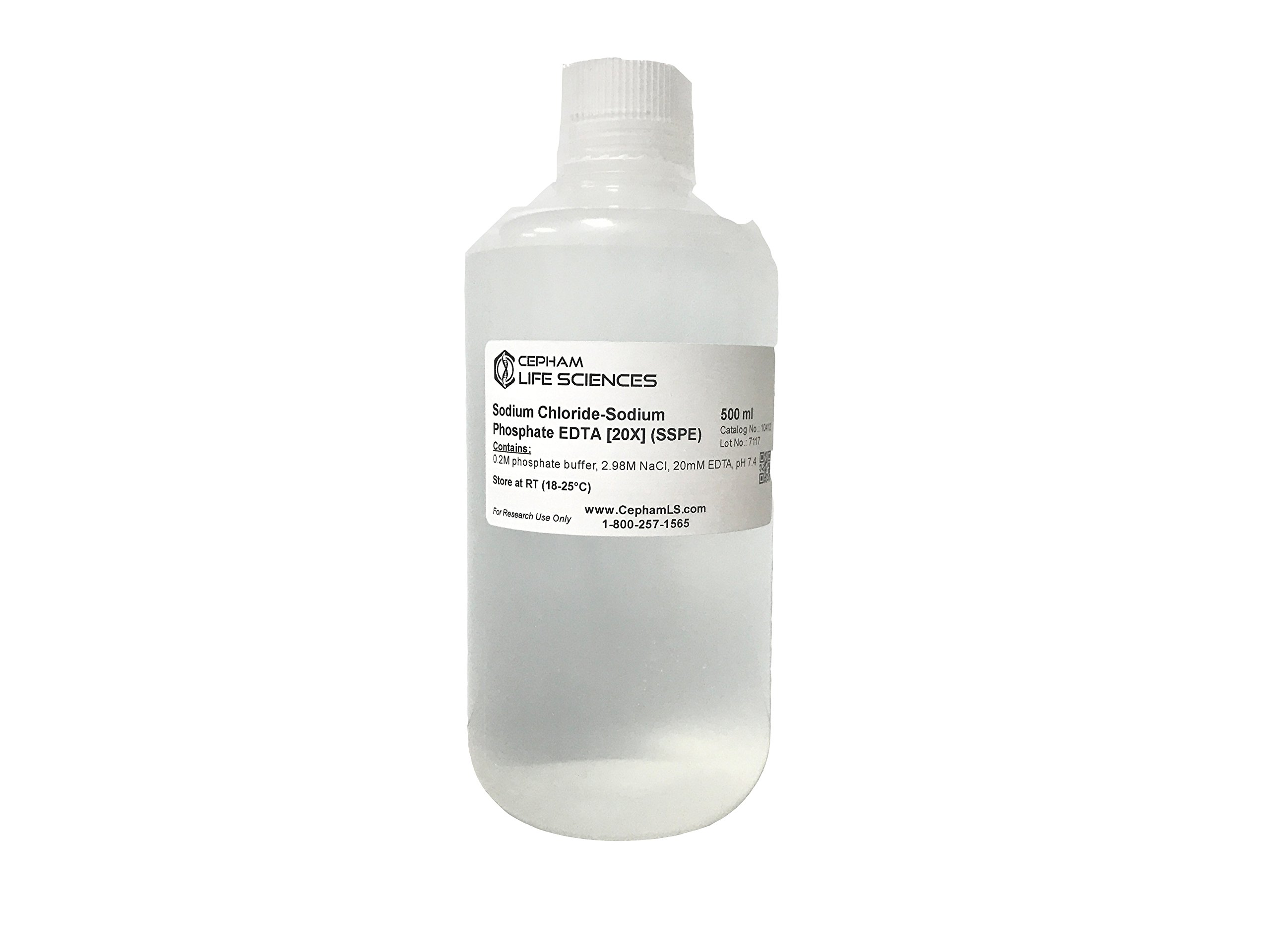 SSPE [20X]; Sodium Chloride-Sodium Phosphate-EDTA (0.2M phosphate buffer, 2.98M NaCl, 20mM EDTA, pH7.4) - 500 ml