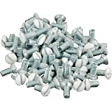 Leviton 88400-PRT 5/16in. Long 6-32 20 Pc. Thread Oval Head Milled Slot Replacement Wallplate Screw, White