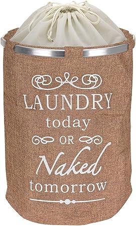 "Wäschesack Blau /""Laundry today or naked tomorrow/"""