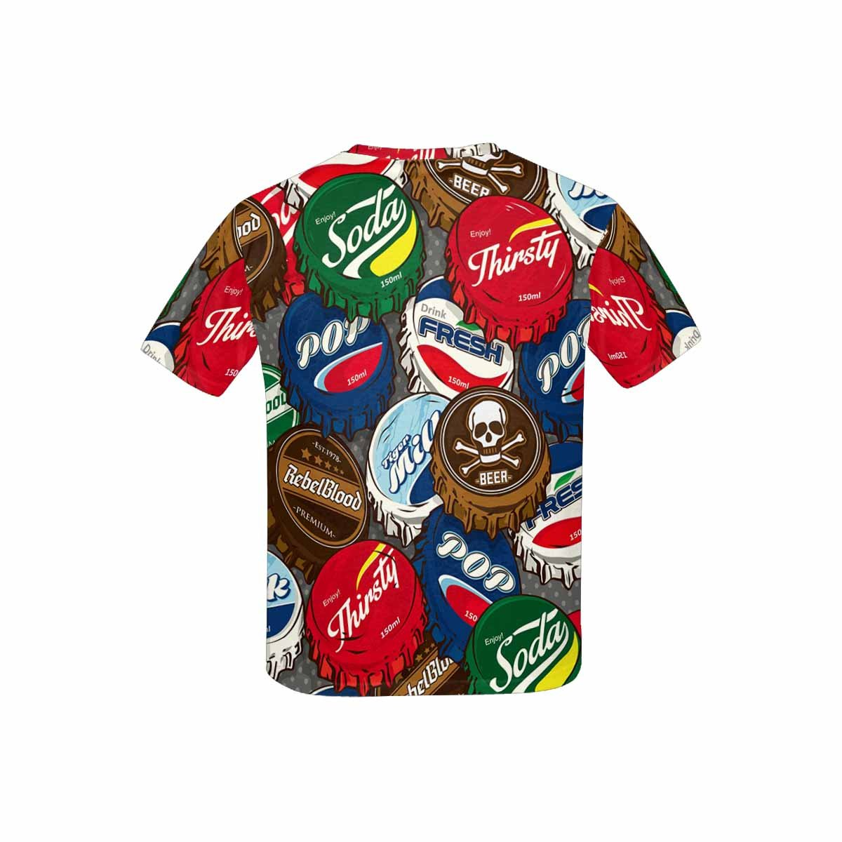 INTERESTPRINT Childs T-Shirt Classic Popular Bottle Caps XS-XL