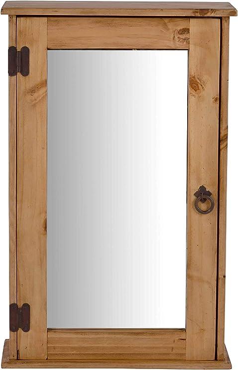 Miamobel Hangeschrank Mexico Mobel 45x70x20 Cm Landhausstil Massivholz Pinie Honig Amazon De Kuche Haushalt