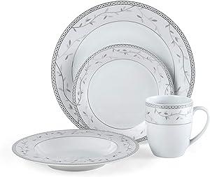 Fitz and Floyd Platinum Vine 32-Piece Dinnerware Set, Assorted