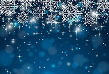 Yeele Winter Blue Backdrop Xmas Kids Artistic Portrait Photography Background 10x8ft Christmas Home Party Decoration Photoshoot Props Photo Booth Banner