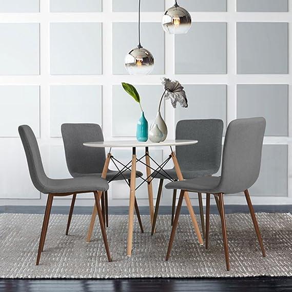 Joolihome Table Ronde Style Eames Table Ronde En Bois Pour Bureau