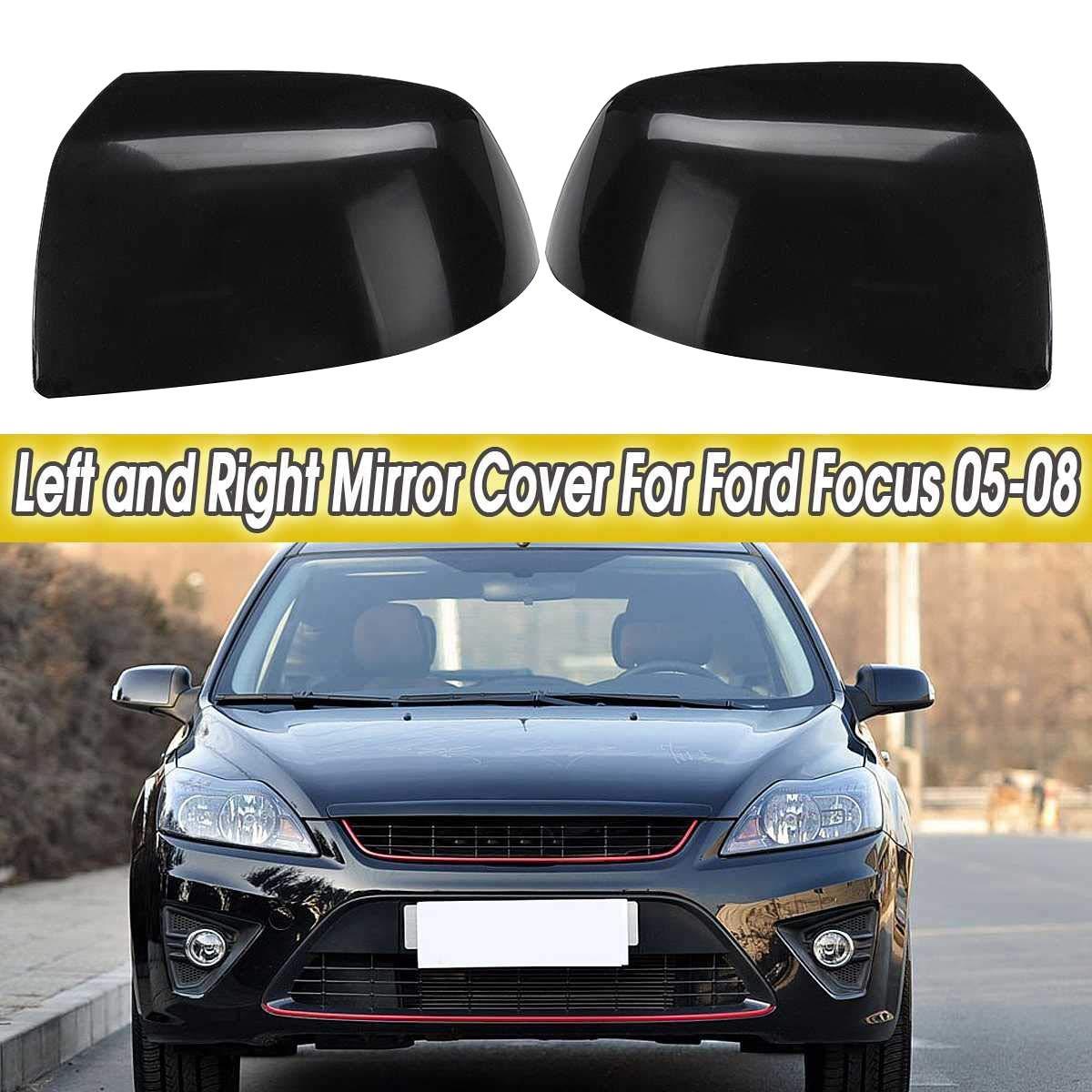 XZANTE Destra Nero Car Exterior Mirror Cover Driver Passenger Side Replacement per per Focus 2005 2006 2007 2008