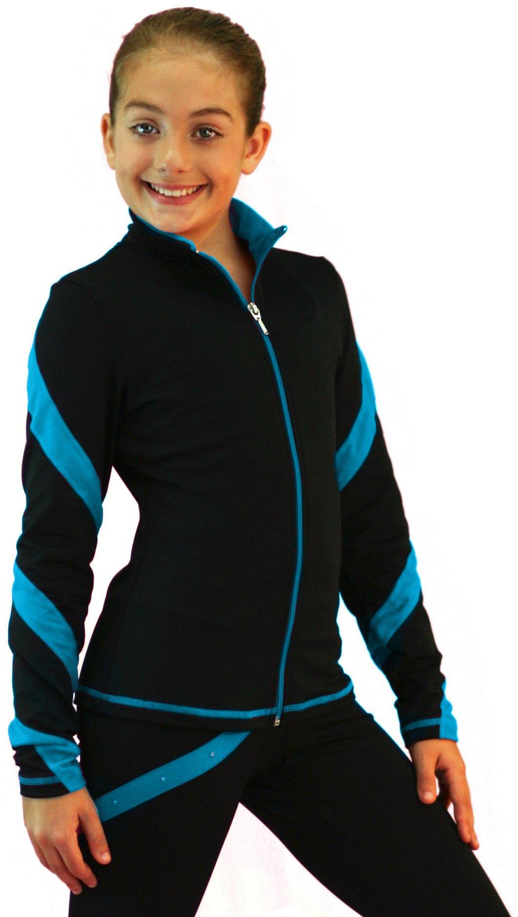 ChloeNoel J36 - Spiral Figure Skating Jacket Turquoise Adult Small by ChloeNoel