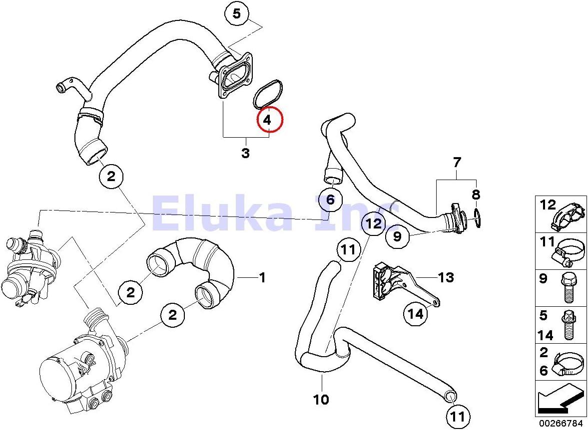 Amazon.com: BMW Coolant Water Hose Gasket For Water Pump To Engine Inlet  Hose 535i 535xi 535xi X6 35iX 135i M Coupé 135i Z4 35i Z4 35is 335i 335xi  335i 335xi 335i 335xi | 2008 Bmw 335i Engine Diagram |  | Amazon.com