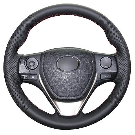 Amazon.com: JI Loncky - Funda de piel para volante de Toyota ...