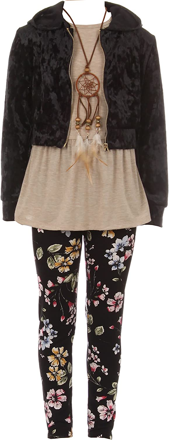BNY Corner 4 Year-end annual account Pieces Jacket Tank Winter Top Legging Girl Necklace Ranking TOP2