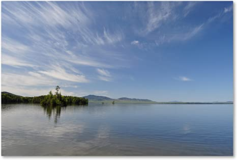 Moosehead Lake By Nicole Dietz 12x19 Inch Canvas Wall Art Posters Prints