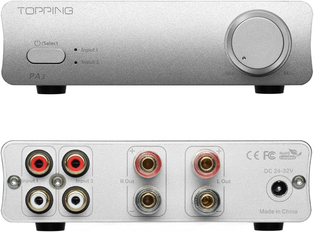 TOPPING PA3 Desktop HiFi Digital Amplifier Silver