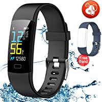 Juboury Fitness Tracker HR, Activity Tracker Watch Heart Rate Monitor with Free One Extra Band