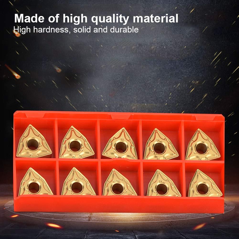 Wendeplatten WNMG432 WNMG0804 WNMG CM Spanbrecher Multilayer Coated CNC Drehplatten f/ür Drehwerkzeughalter Ersatzplatte 10 Stk Mit Box