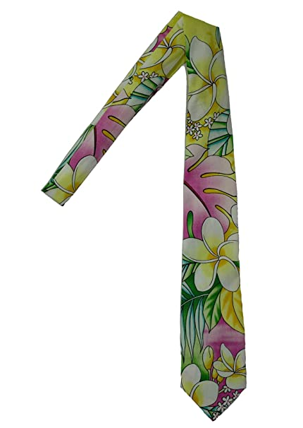 a43fdf1cac49 Hawaii Neckties - Plumeria Flower at Amazon Men s Clothing store ...