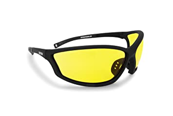 BERTONI Deportes Gafas Prescripción con Adaptador para Gafas - Ciclismo Moto Esquí Golf Unidad Running - by Italy AF100 Protector de Viento para Gafas: ...