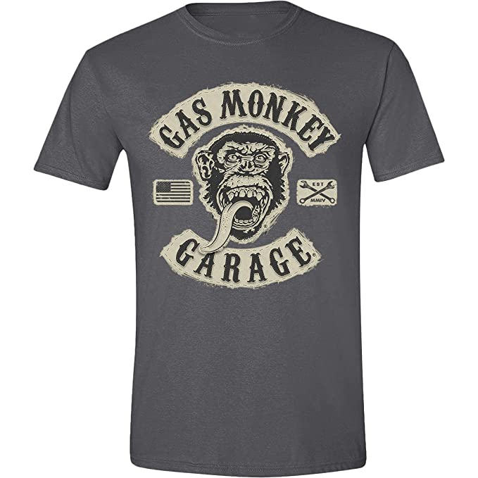 Gas Monkey Garage - Gas Monkey Patch Hombres Camiseta - ONWAAR - Tamaño XX-Large: Amazon.es: Ropa y accesorios