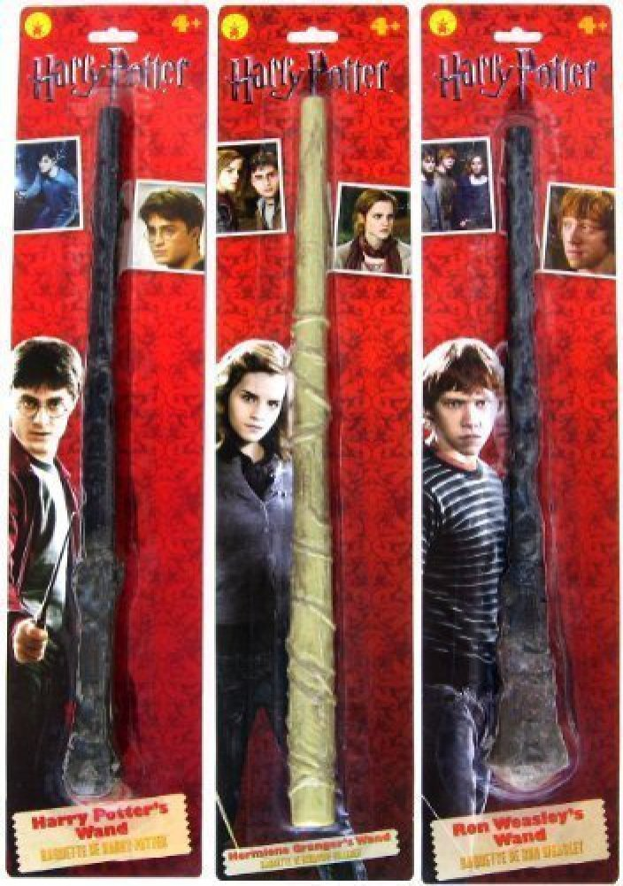 Bundle - 3 items: Harry Potter, Ron Weasley, and Hermione Granger Magic Wands Rubies