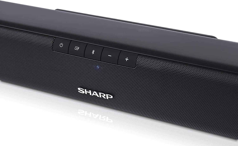 Sharp Ht Sb110 2 0 Slim Soundbar With Hdmi Arc Cec And 90w Total Power Bluetooth 80 Cm Black Home Cinema Tv Video