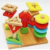 Toys of Wood Oxford impilatore geometrico di legno gioco