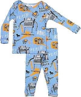 product image for Books to Bed Boys Pajamas Robo-Sauce - Robot Pajamas for Toddler, Big Boys PJ Set