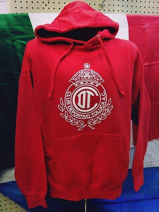 Full 90 New! Club Deportivo Toluca Kids Hoodie with Pocket (S-(4