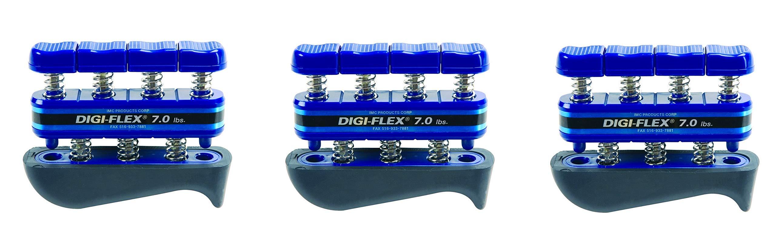 Digi-Flex Blue Hand and Finger Exercise System, 7 lbs Resistance (3-Pack)