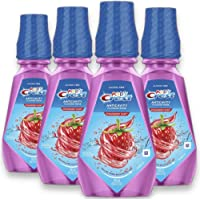 Crest 16.9 fl oz. Pack of 4 Kid's Anti Cavity Alcohol Free Strawberry Rush Fluoride Rinse