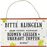 Spiegelburg 13700 Gartenschild 'Bitte klingeln' I love my Garden