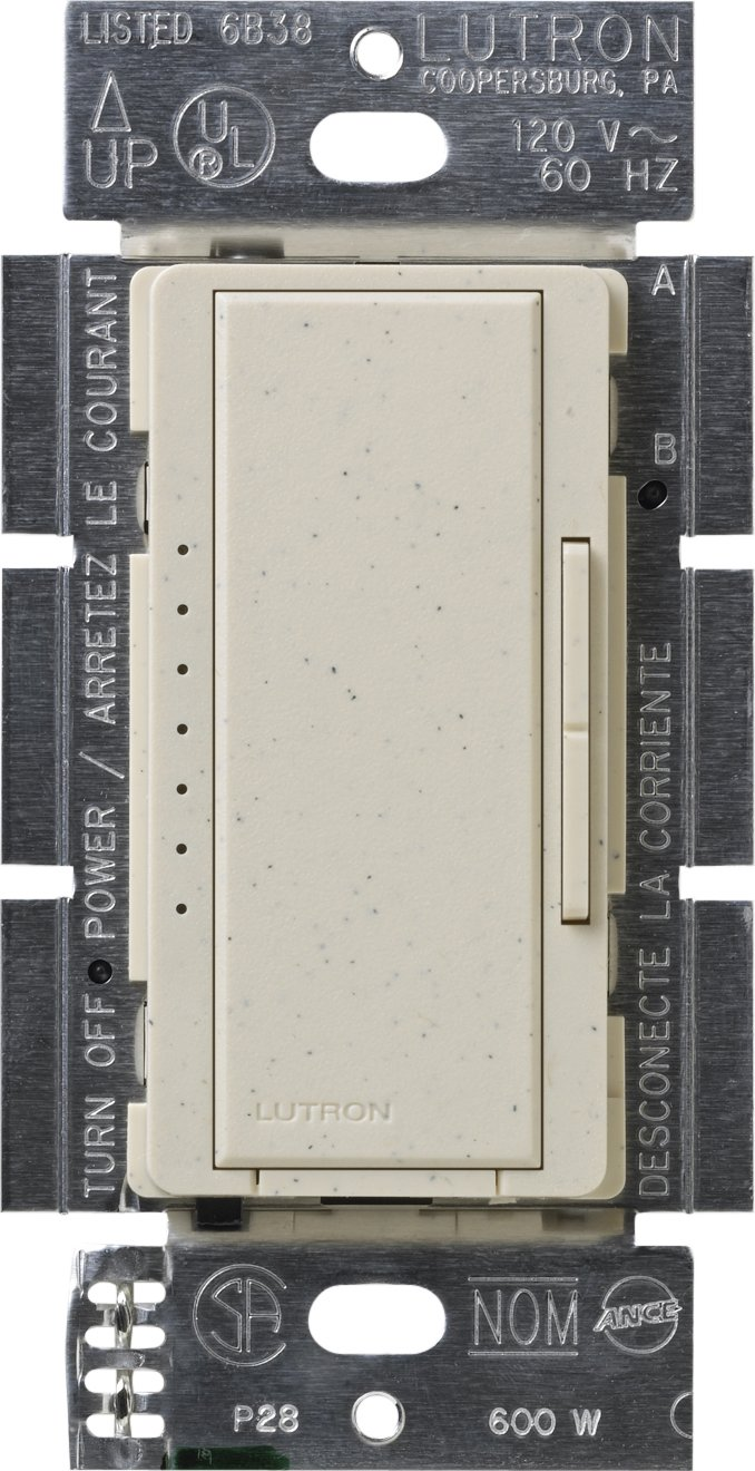 Lutron MSC-1000M-LS Maestro 1000-watt Multi-Location Digital Dimmer, Limestone
