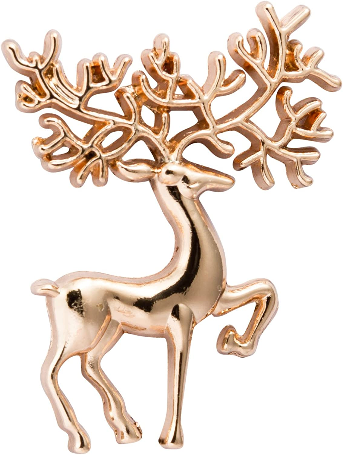 Knighthood Men's Gold Reindeer Lapel Pin/Brooch/Shirt Stud Golden