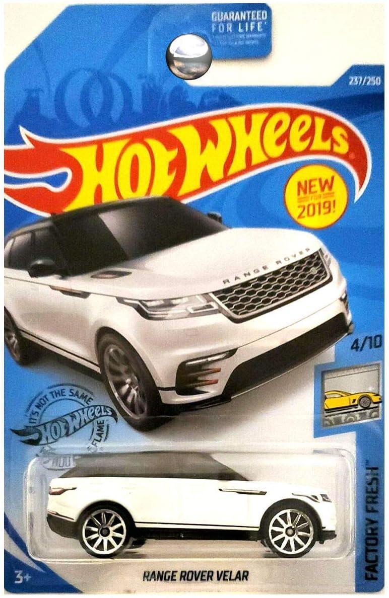 2019 Hot Wheels Factory Fresh Range Rover Velar Kroger Exclusive White