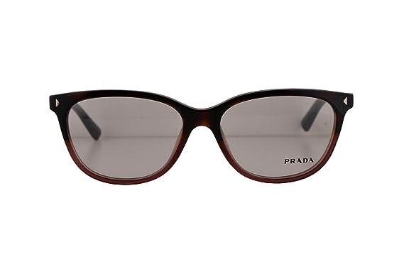c925e98d3b4 Prada PR14RV Eyeglasses 54-16-140 Red Havana Gradient TWC1O1 VPR14R For  Women (FRAME ONLY)  Amazon.co.uk  Clothing