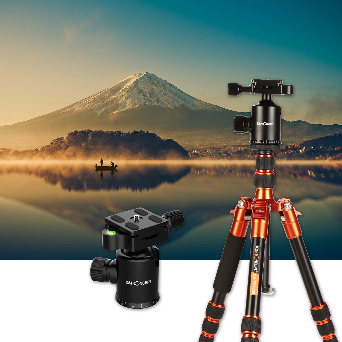 K/&F Concept 50 Professional Compact Camera Tripod Aluminum with Ball Head /& 1//4 Screw Quick Release for DSLR Super Light-Weight Canon, Nikon, Pentax, Sony, Leica, Fuji, Lumix, Olympus