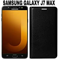 AVICA® Premium Leather Flip Case Cover for Samsung Galaxy J7 Max - Black