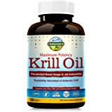 Terranics Krill Oil with Omega3s DHA & EPA, Phospholipids and Astaxanthin, 1250mg, 60 Softgels, Supports Joint, Brain…