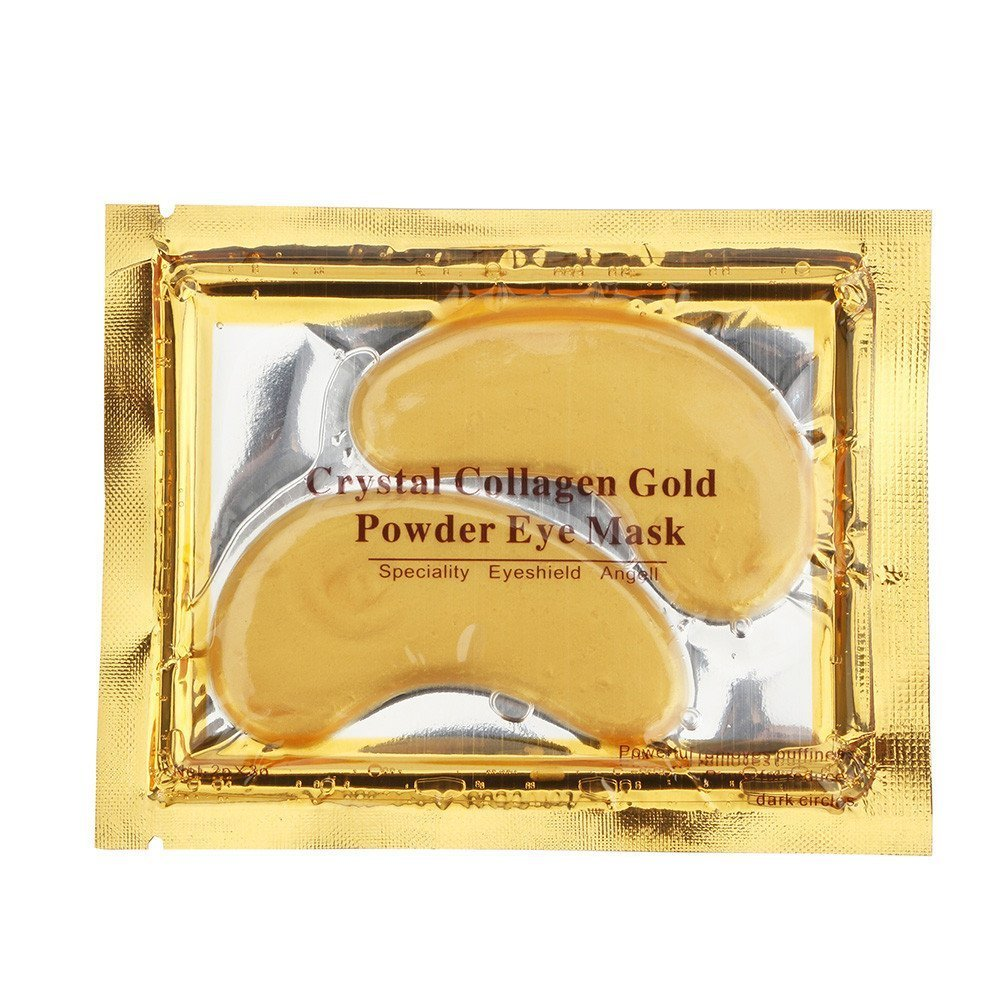 BF Crystal Collagen Gold Powder Eye Masks - 10 x Pairs of Crystal GOLD Anti-Wrinkle Anti-Ageing Under Eye Gel Patch powder Mask Facial Moisturizer Beauties Factory
