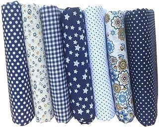 Babysbreath17 7PCS/Set d'impression Mixte 25 * 25cm Tissus Floraux pour Patchwork Couture Matériaux Quilting Scrapbooking Coton Tissu