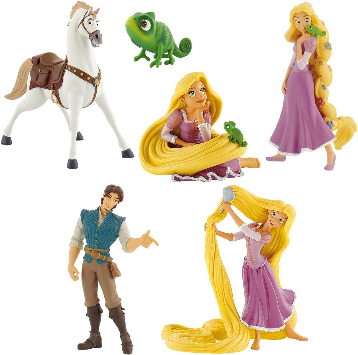 Bullyland Enredados de Disney Rapunzel Pascal Flynn Rider Maximus Set 6 Figuras: Amazon.es: Juguetes y juegos