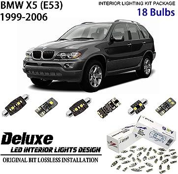 Premium LED Interior Light Conversion Kit BMW X5 E70 2006-2013 White 20 Bulbs