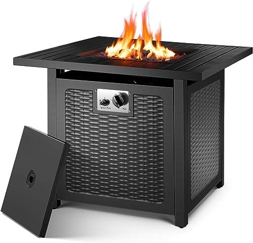 OKVAC 28″ Propane Gas Fire Pit Table