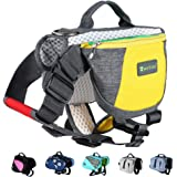 Wellver Adjustable Dog Saddle Bag Backpack, Hound Travel Saddle Bag Packs Hiking Walking Camping for Small & Medium & Large &