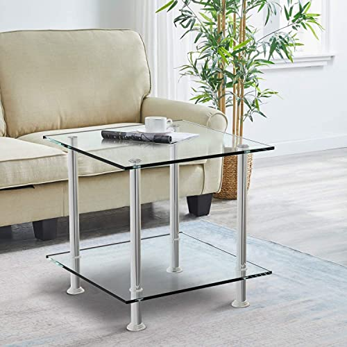 nozama Glass 2 Tier Side Table