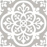 FloorPops FP2942 Medina Peel & Stick Floor Tile, Grey, 10 Count