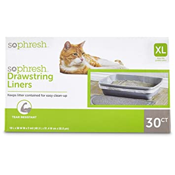 Amazon.com: So pHresh Cordón Aserrín para gatos Caja Liners ...