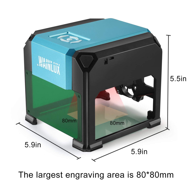 Laser Engraving Machine, 3000mW Mini Desktop Laser Printer Engraver Machine Working Area 80X80mm for DIY Logo(3000mW) by WAINLUX (Image #6)